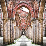 Historyczne ruiny zaniechany opactwo Obrazy Stock