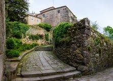 Historyczne wąskie ulicy, Tui Hiszpania Zdjęcie Stock
