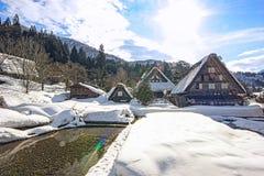 Historyczne wioski Iść i Gokayama, widok zmierzch, Japonia Obraz Royalty Free