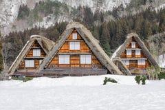 Historyczne wioski Iść w zimie, Światowy dziedzictwa kulturowego miejsce w Gifu, Japonia zdjęcie royalty free