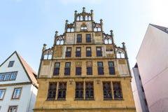 Historycznego miasteczka ćwiartka Bielefeld Niemcy obrazy royalty free