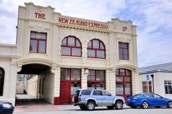 Historycznego Nowa Zelandia Wyrażający Firma budynek w Oamaru, Nowa Zelandia fotografia stock