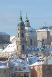 historycznej Prague zimy. zdjęcie royalty free