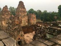 historycznej struktury khmer archeologia Kambodża zdjęcie royalty free