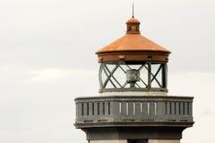 Historycznej struktury poręcza latarni morskiej Plenerowy wierza Nautyczny Bea zdjęcie royalty free