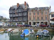 Historyczni budynki i łódkowaty schronienie Zdjęcie Stock