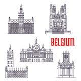 Historyczni budynki i architektura Belgia ilustracji