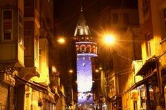 Historyczni budynki Istanbuł & Basztowy Galata obraz royalty free