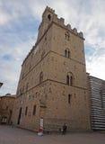 Historyczni budynki Volterra, Włochy zdjęcia stock