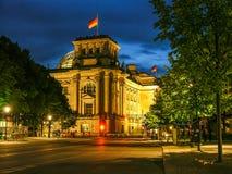 Historyczni budynki w Berlin: reichstag - Niemiecki parlament zdjęcie stock