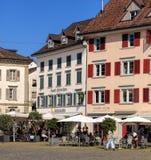 Historyczni budynki w Rapperswil, Szwajcaria Obraz Royalty Free