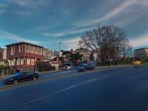 Historyczni budynki w Sishane Istanbuł zdjęcia royalty free