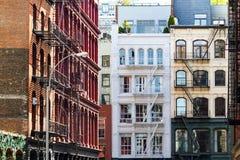 Historyczni budynki w SoHo Manhattan Miasto Nowy Jork fotografia stock