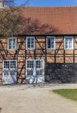 Historyczni ceglani domy w grodowym ogródzie Rheda-Wiedenbruck fotografia royalty free