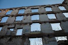Historyczni czerwoni ściana z cegieł Zdjęcie Stock