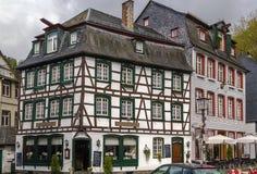 Historyczni domy w Monschau, Niemcy Obraz Royalty Free