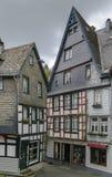 Historyczni domy w Monschau, Niemcy Zdjęcie Royalty Free