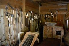 Historyczni japończyka gospodarstwa rolnego narzędzia obrazy stock