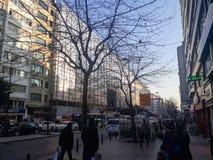 Historyczni & Nowożytni budynki Istanbuł & Uliczny Sisli fotografia royalty free