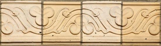 Historyczni ornamenty neogotyka grzebalna kaplica w Guetzkow, Mecklenburg-Vorpommern, Niemcy Fotografia Royalty Free