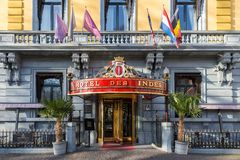 Historyczni pięć hotelu gwiazdowy des Indes w Haga holandie Zdjęcia Royalty Free