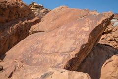 Historyczni rytownictwa w Namib Obrazy Stock
