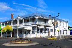 Historyczni 1890s hotelowi w Waihi, Nowa Zelandia zdjęcie stock