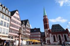 Historyczni tenement domy w starym miasteczku Frankfurt Zdjęcie Royalty Free