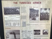 Historyczni Tuskegee lotnicy Pamiątkowi w Walterboro, Południowa Karolina, usa obrazy stock