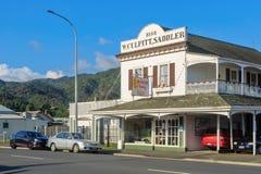 Historyczny «W Culpitt, rymarza «budynek, Thames, Nowa Zelandia obrazy stock
