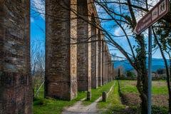 Historyczny akwedukt, Lucca, Tuscany, Włochy zdjęcie royalty free