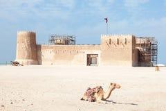 Historyczny Al Zubara fort w Katar Fotografia Royalty Free
