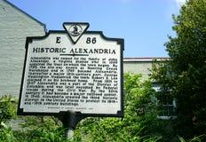 Historyczny Aleksandria, Virginia - mus widzii Obraz Royalty Free