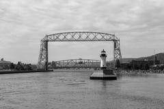 Historyczny antena most na Jeziornym przełożonym fotografia stock