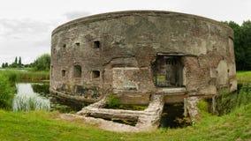 Historyczny Basztowy fort Uitenmeer Weesp obraz stock