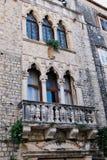 Historyczny budynek mieszkaniowy, Diocletian pałac, Spli, Chorwacja fotografia royalty free