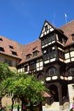 Historyczny budynek na VESTE COBURG kasztelu w Coburg, Niemcy obraz stock