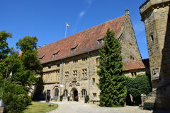 Historyczny budynek na VESTE COBURG kasztelu w Coburg, Niemcy zdjęcie stock