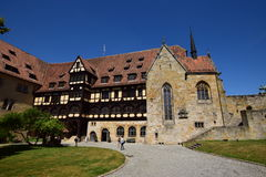 Historyczny budynek na VESTE COBURG kasztelu w Coburg, Niemcy zdjęcia royalty free