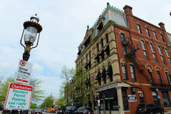 Historyczny budynek w Charlestown, Boston, MA, usa obrazy royalty free
