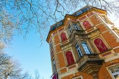 Historyczny budynek w dżdżownicach, Niemcy Fotografia Royalty Free