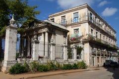 Historyczny budynek w Hawańskim Obrazy Royalty Free