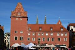Historyczny budynek w Regensburg, Niemcy obraz stock