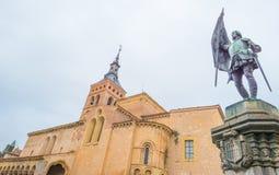 Historyczny budynek w Segovia zdjęcia stock