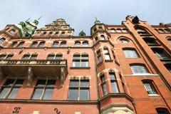 Historyczny budynek w Speicherstadt w Hamburg zdjęcia royalty free