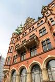 Historyczny budynek w Speicherstadt w Hamburg obrazy royalty free