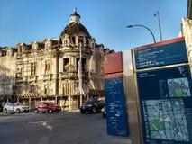 Historyczny budynek w w centrum Rio jest zagrożony zawalenie się Obrazy Stock
