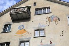 Historyczny centre Chur zdjęcie royalty free