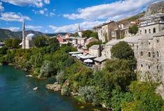 Historyczny centre Mostar, Bośnia obraz royalty free
