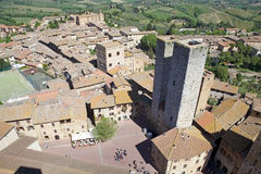 Historyczny centre San Gimignano, Tuscany, Włochy Fotografia Royalty Free